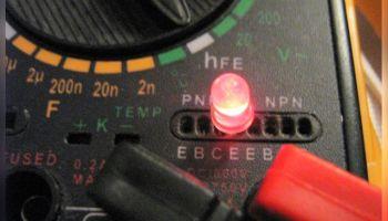 Проверка работы светодиодов мультиметром